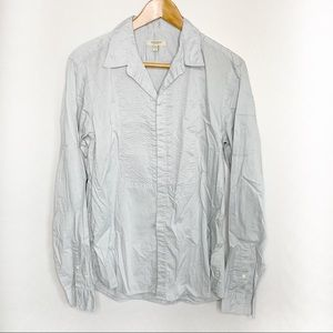 Burberry Blue Button Down Long Sleeve Top M